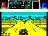 Chase H.Q. ZX Spectrum The arrow up ahead is a great bug clue - that's the way the bad guy went