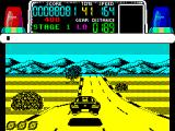 Chase H.Q. ZX Spectrum The car leaves the road when it flies over a hump in the road which is a nice touch