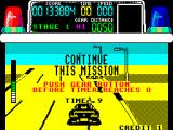 Chase H.Q. ZX Spectrum Time up again. Plenty of damage caused to the bad guys car but not quite enough to stop it