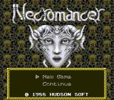 Jaseiken Necromancer TurboGrafx-16 ...until he finally stops babbling and produces the main menu :)