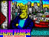 Freddy Hardest in South Manhattan ZX Spectrum This is the game load screen which gives way to ...