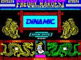 Freddy Hardest in South Manhattan ZX Spectrum ... company logos and credits which are replaced by ...