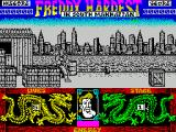 Freddy Hardest in South Manhattan ZX Spectrum The start of the game. Freddy is ready!