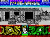 Freddy Hardest in South Manhattan ZX Spectrum Freddy's finished, one life gone