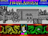 Freddy Hardest in South Manhattan ZX Spectrum A standing kick to the head - nice graphic