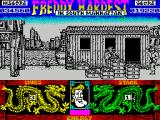 Freddy Hardest in South Manhattan ZX Spectrum The fork lift cannot pass through the legs of the crane so to escape it the player must keep going right