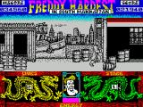 Freddy Hardest in South Manhattan ZX Spectrum The red building marks the ens of phase 1