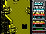 Last Duel: Inter Planet War 2012 ZX Spectrum When restarting after losing a life the players machine is displayed in this position whether it be over the road or the scenery. The player decides the final placement.