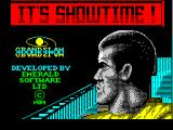 The Running Man ZX Spectrum This game has a long load sequence starting with this screen.