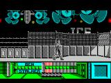 The Running Man ZX Spectrum Finally the game starts. Arnie must move quickly before a guard dog comes along. Level 1 is the Ice Rink level