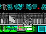 The Running Man ZX Spectrum Even when Arnie knocks hockey man down he's up in a trice and attacking from behind