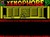 Xenophobe ZX Spectrum This is some kind of energy leech. It has attached itself to the exterminator and is draining health, the health counter on the left has started to decrease.
