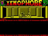 Xenophobe ZX Spectrum Luckily - when another alien rolls up and knocks her down the energy leech is dislodged. All this before she gets off a shot!