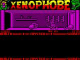 Xenophobe ZX Spectrum As the station is explored items can be picked up, here its a key