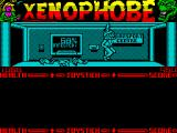 Xenophobe ZX Spectrum This room was reasonably safe last time she was in here. Where'd that tentacle come from!
