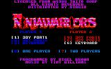 The Ninja Warriors Amstrad CPC Main menu