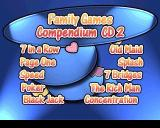Family Games Compendium PlayStation Disc 2: A pre main menu screen displaying what games are available on this disc.