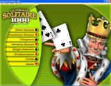 Ultimate Solitaire 1000 Windows The main game menu