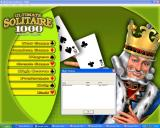 Ultimate Solitaire 1000 Windows High scores shows the fastest completion time for each games.