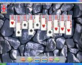 Ultimate Solitaire 1000 Windows Playing Spider Solitaire with a new background, card face, and card back