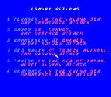 Silent Service NES Convoy actions selection
