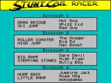 Stunt Track Racer ZX Spectrum Race divisions