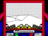 Stunt Track Racer ZX Spectrum Racing practise on Ski slope