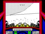 Stunt Track Racer ZX Spectrum Landed hard and wrecked the engine