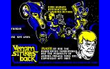 VENOM Strikes Back Amstrad CPC Title screen