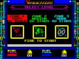 Vindicators ZX Spectrum When the player presses a key the game copyright screen is replaced by this game option screen
