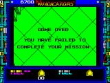 Vindicators ZX Spectrum Game over screen. It was running out of fuel that ended the game