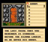 Shadowgate NES Starting the game