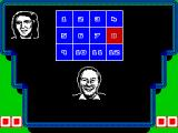A Question of Sport ZX Spectrum The first round  is the picture board round. Tracey gets to go first. One of the squares is displayed in red. The player moves the active square around the grid and selects a number