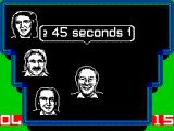 A Question of Sport ZX Spectrum The next round is the Quickfire round in which each team is asked a series if questions and must answer as many as possible in 45 seconds