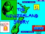 The New Zealand Story ZX Spectrum This screen displays as the game loads ....
