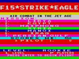 F-15 Strike Eagle ZX Spectrum The missions