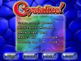 Crystalize! Windows The game options screen where the type of game is selected