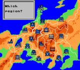 Shingen the Ruler NES Map