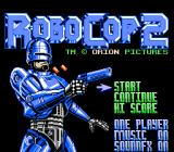 RoboCop 2 NES Title screen