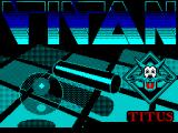Titan ZX Spectrum This screen displays while the game is loading