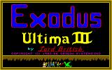 Exodus: Ultima III Amiga Title screen