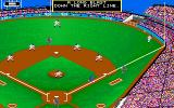 MicroLeague Baseball Amiga A long blast down the right line!