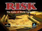 Risk: The Game of Global Domination PlayStation Title screen.