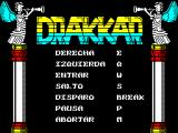Drakkar ZX Spectrum Action keys can be redefined