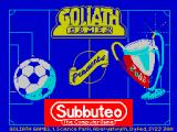 Subbuteo ZX Spectrum This screen displays as the game loads