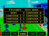 Subbuteo ZX Spectrum All leagues have fixtures. These are the first round matches