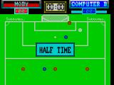 Subbuteo ZX Spectrum Nil - Nil at half time.