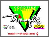 Sporting Triangles ZX Spectrum This screen displays as the game loads