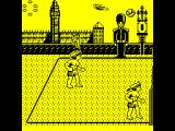 Beach Volley ZX Spectrum The ball comes over the net. Player to receive - as indicated by the arrow over his head. The point where the ball will land is marked on the ground. Player must get there and time the return....