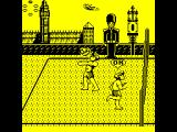 Beach Volley ZX Spectrum A successful catch / hit. Now the team mate wakes up and shouts OK